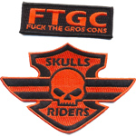 Patche skull riders